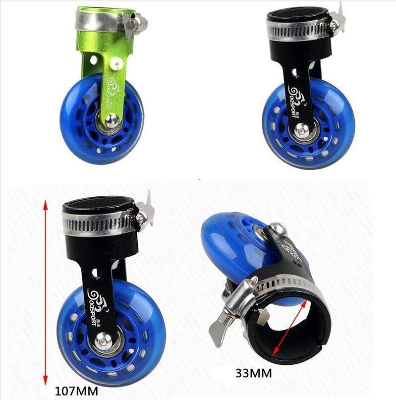 Folding Bicycle Bike Scroll Wheel Roller Assistor Booster Wheels//Training Wheels