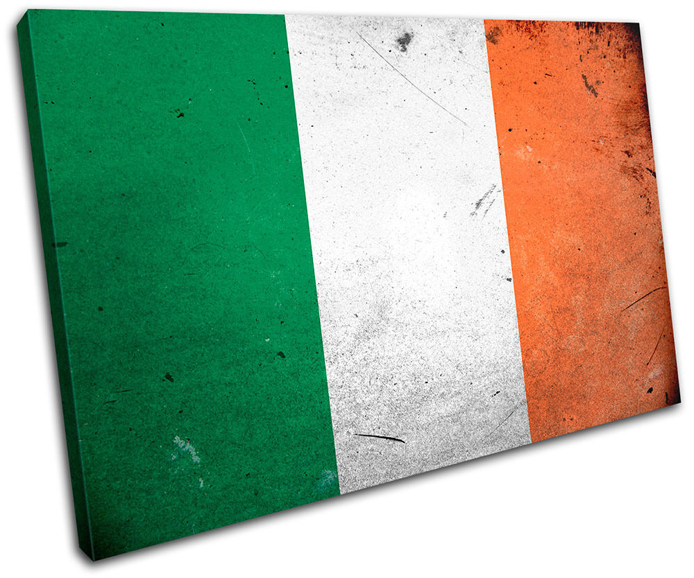 Abstract Irish Ireland Maps Flags SINGLE TOILE murale ART Photo Print