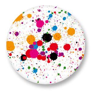 Pin Button Badge O25mm 1 Motif Tache Peinture Splash Ebay