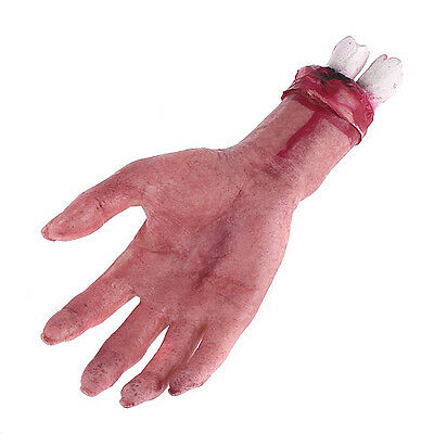 Scary Horror Latex Rubber Bloody Blood Hand for Halloween Party Props Gifts