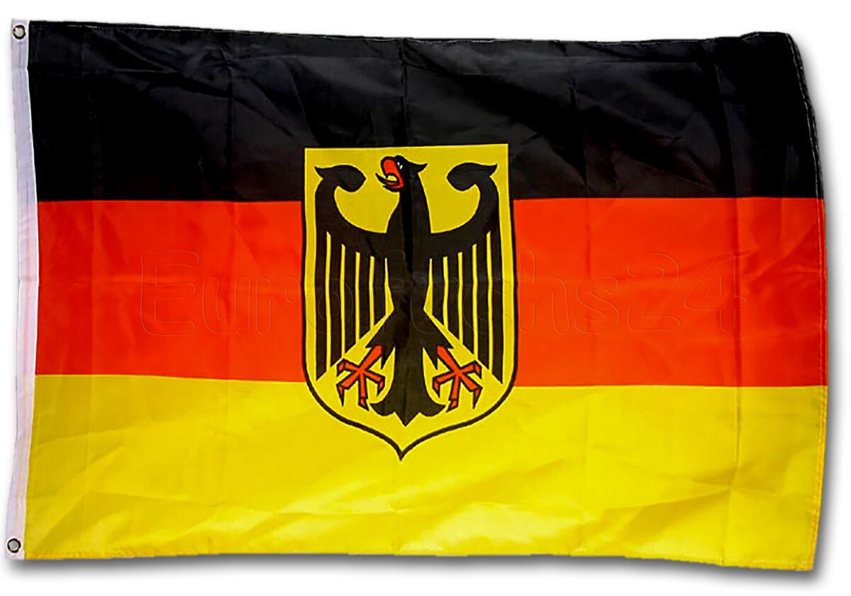 Deutschland Fahne Flagge Fanartikel Fanartikel Flagge WM EM Fußball mit Adler 90 x 150 cm 04b1a5