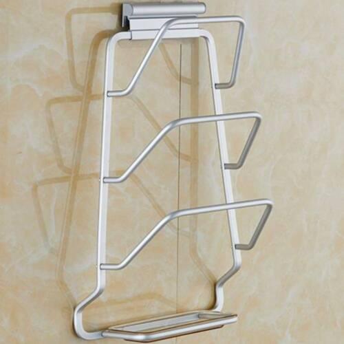 Pot /& Pan Lid Holder Wall Mounted Storage Rack Home Kitchen Cookware Holder UK
