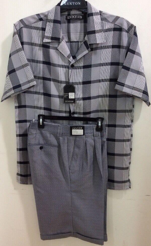 Neu Herren Luxton Schwarz 2 2 2 Teile Freizeit   Wandern Hemd   Shorts Set,& | Schöne Farbe  | Spielzeugwelt, glücklich und grenzenlos  2bcc2a