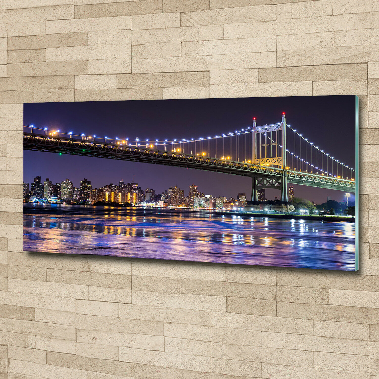 Acrylglas-Bild Wandbilder Druck 125x50 Sehenswürdigkeiten Brücke in New York