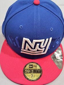 857c4b31 NEW ERA 59 FIFTY NFL NEW YORK GIANTS BLUE RED FITTED CAP 7 3/8 NEW ...