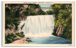 1945-Ithaca-Falls-Cornell-University-Ithaca-NY-Postcard