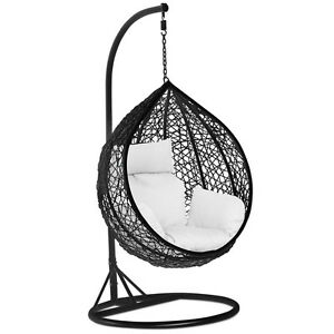 Image Is Loading Rattan Hanging Swing Chair Patio Garden Egg Chair