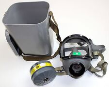 FINLAND ARMY M71 RESPIRATOR GAS MASK + FILTER + STORAGE BOX