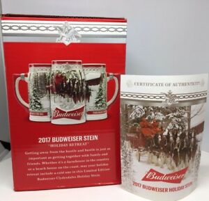 2017 Budweiser Holiday Stein Christmas Beer Mug from Annual series ...