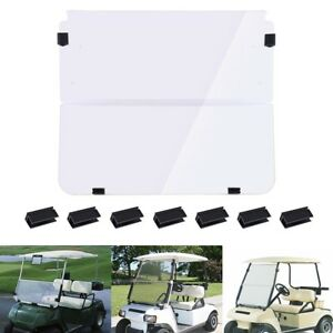 Folding-Acrylic-Golf-Cart-Windshield-for-Club-Car-DS-1982-2000-Clear-Fold-Down