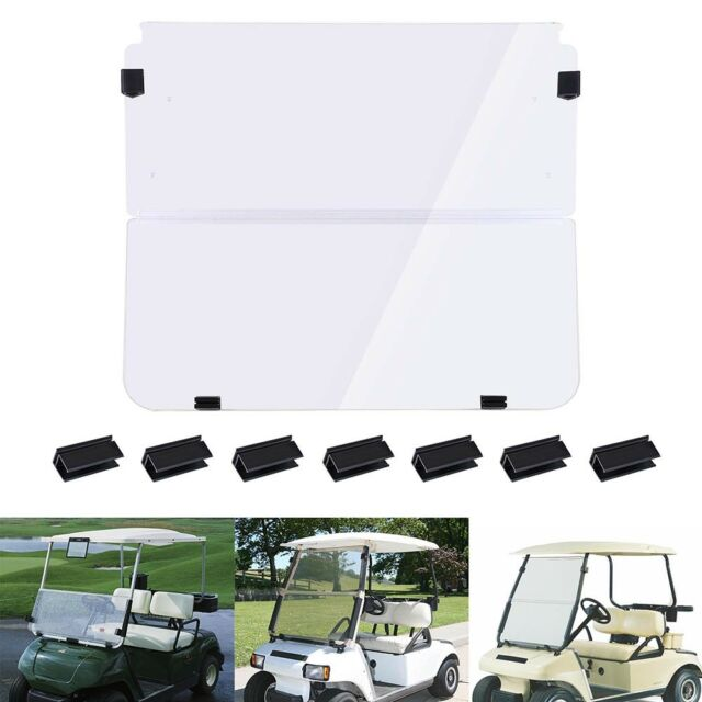Folding Acrylic Golf Cart Windshield for Club Car DS 1982-2000 Clear Fold Down