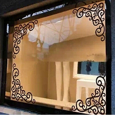 4Pcs DIY Wall Decal Decor Window Bath Room Mirror Art Sticker Removable Paper