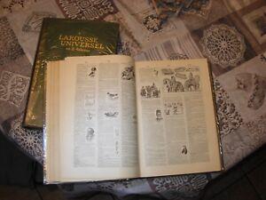 livre-dictionnaire-ancien-larousse-2-vol-tome-1-A-K-edite-1922-tome-2-L-Z-en1923