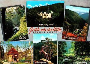 Frankenwald , Ansichtskarte, 1980 gelaufen - Rostock, Deutschland - Frankenwald , Ansichtskarte, 1980 gelaufen - Rostock, Deutschland