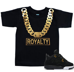 af50b1d1502e Toddler ROYALTY Gold Chain T Shirt to match with Jordan 4 Retro 4 ...