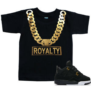 b5b50b992cf2 Toddler ROYALTY Gold Chain T Shirt to match with Jordan 4 Retro 4 ...