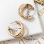 Simple-3-Cercle-Argent-Or-Plaque-Charme-Cuff-Statement-Ear-Stud-Big-Boucles-d-039-oreilles miniature 3