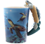 thumbnail 13 - Animal Shaped Handle Ceramic Mug Tea Coffee Cup Novelty Gift Jungle Tropical