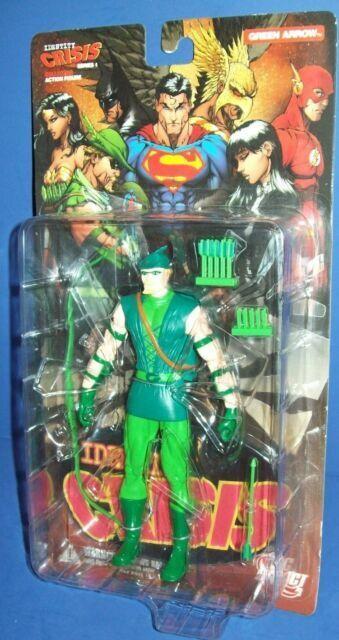 JUSTICE LEAGUE IDENTITY CRISIS Serie 1 GREEN  ARROW action-figure 16cm DC Direct