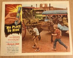 """BRIAN,DAVID """"No Place To Hide"""" Original Lobby Card  1956"""