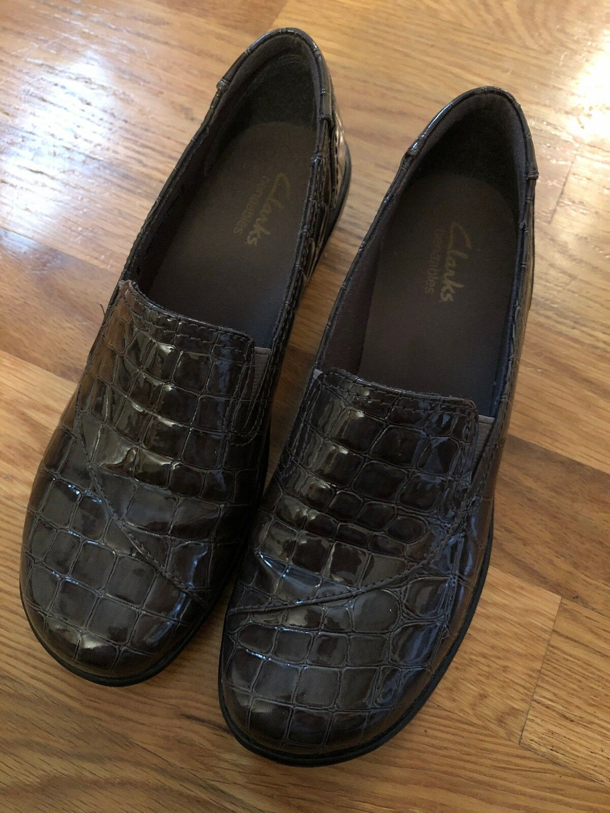 Clark's May May May Poppy damen's 6.5M In Charcoal grau Slip-on schuhe Clogs 56d229