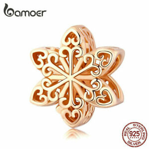 BAMOER-Real-S925-Sterling-silver-Hollow-Rose-Charm-Snowflake-Fit-Bracelets-Women