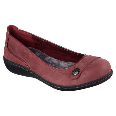 NEW SKECHERS Women Ballerina Flats Slipper WASHINGTON - WALLA WALLA Burgundy