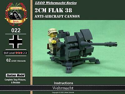 PDF manual instruction MOC WW2 Flak 52K Anti Air Soviet Russia Lego bricks