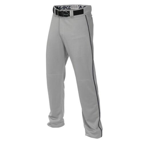 Piping Easton Mako 2 Adult Men/'s Piped Baseball Pants White /& Grey Long