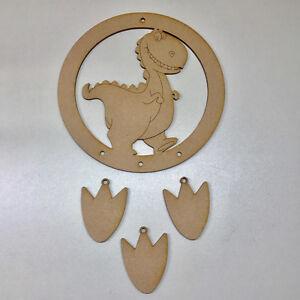 MDF WOODEN Dreamcatcher Mobile Dream Catcher Dinosaur REX Personalised Name