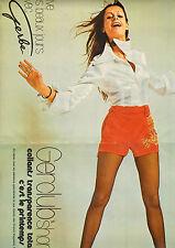 """Publicité 1971  ( Double page )  Lingerie Collants Gerclub """"short"""" Gerbe bas"""