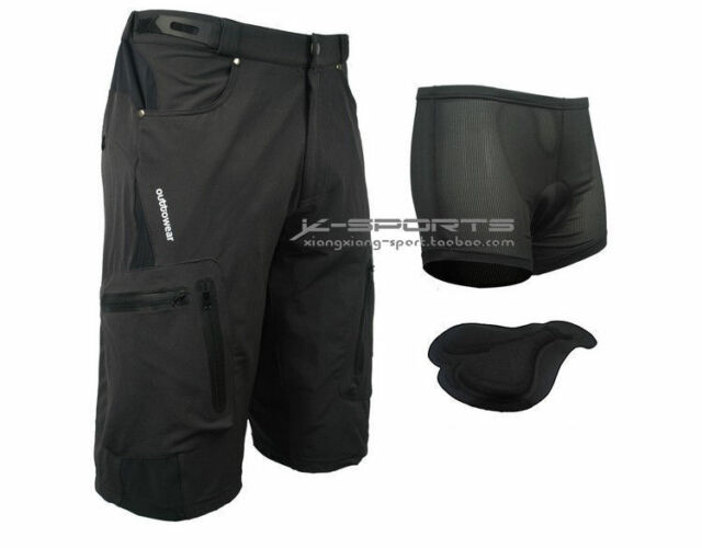 Black Cycling Men's Mountain Bike/Bicycle Shorts Half Pants (3D Padded Underwear
