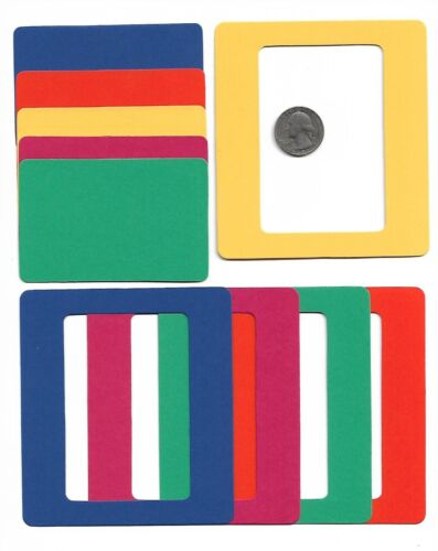 Picture Frames 10pc Primary Colors Slide Holder Style Die Cut Card Stock Photo