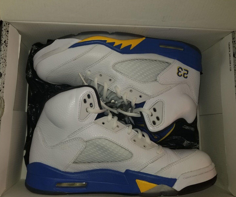 Retro Nike Air Jordan 5 Retro BLUE AND YELLOW