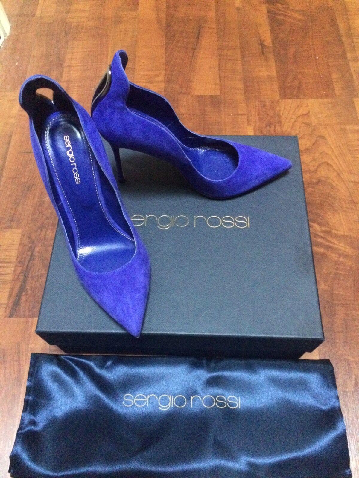 Escarpins pump Chaussure s SERGIO ROSSI ROSSI ROSSI  bleus - T. 38 Neuf 3cb410