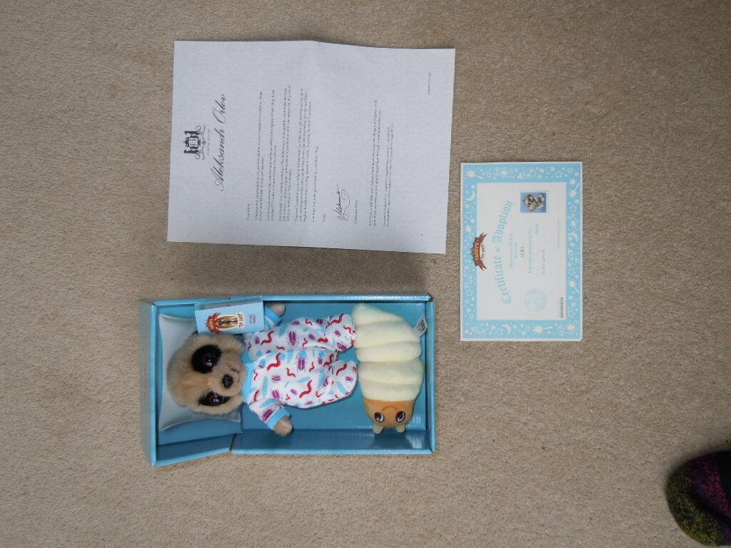NUOVO CON SCATOLA Baby OLEG Suricato confrontare il mercato Giocattolo Set lettera indirizzata a Molly