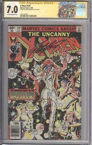 X-Men-130-CGC-7-0-SS-SIGNED-Chris-Claremont-Marvel-1980-Giant-Size-1-Label