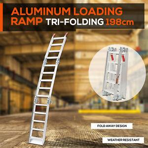ALUMINIUM-TRI-FOLDING-LOADING-RAMPS-For-ATV-Motobike-Motorcycle-Trailer-Buggy