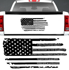 2nd Amendment Distressed American Flag Nra Window Decal