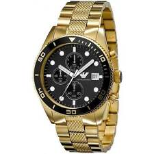 EMPORIO ARMANI AR5857 GOLD MENS CHRONOGRAPH WATCH - RRP £399