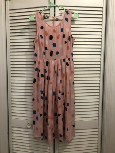 Dusen Dusen - Rocks print - silk dress - Women's S
