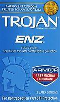 Trojan Enz Spermicidal Condoms, 12 Each on sale