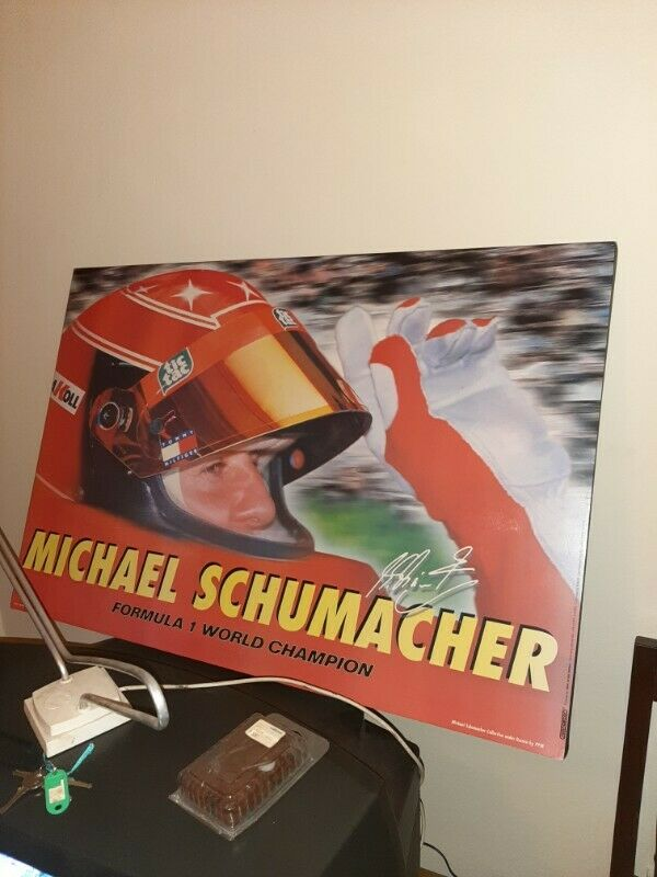 Michael Schumacher Poster A Racing Legend  Only 7 times F1 Racing Legend with Benetton and Ferrari