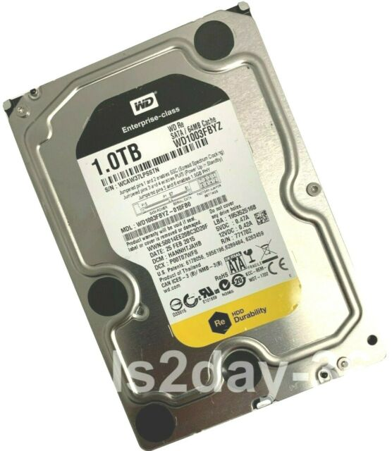 WD1003FBYZ Western Digital Re 1TB 7200RPM SATA 6Gbps 64MB Caché 3.5-inch Interna