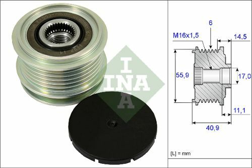 INA AlternatorOver Running Clutch Pulley 535001210 Fit with VW Crafter 30-50
