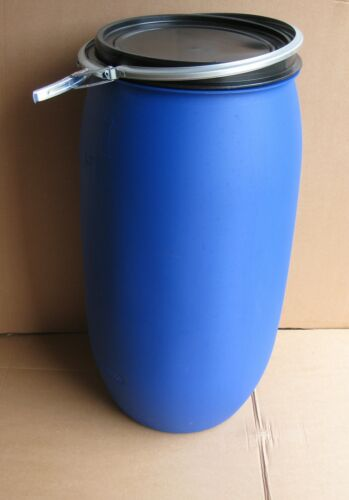 150 L blau Futtertonne Wassertonne Regentonne Maischefass Weithalsfass Fass ca