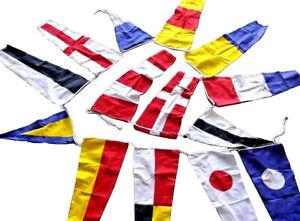 U-S-Navy-Signal-Code-FLAG-14-flags-Bunting-6-Feet-Beach-Party-100-COTTON