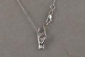 UT-University-of-Texas-Hook-039-Em-Horns-Necklace-14kt-White-Gold