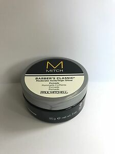 PAUL-MITCHELL-MITCH-BARBER-039-S-CLASSIC-Moderate-Hold-High-Shine-Pomade-85g-3-oz