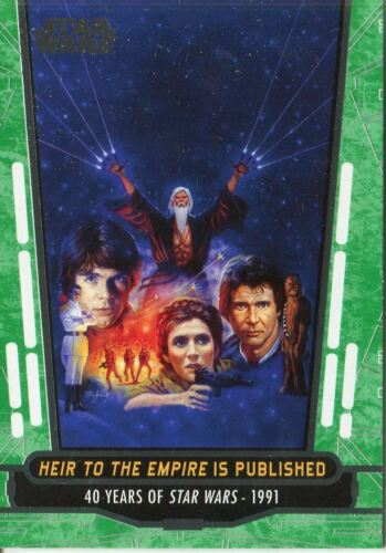 Star Wars 40th Anniversary Green Base Card #75 Heir to the Empire is Published